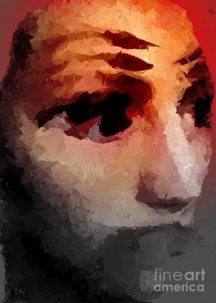 Depressed Digital Art - Mute by Chris Butler