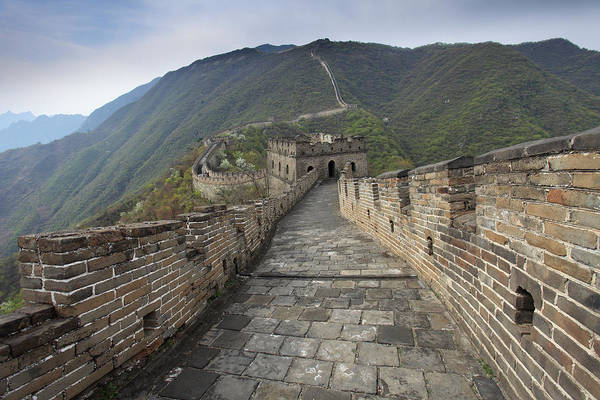 Municipality Photograph - Mutianyu Section Of The Great Wall Of by Dave Porter Peterborough Uk