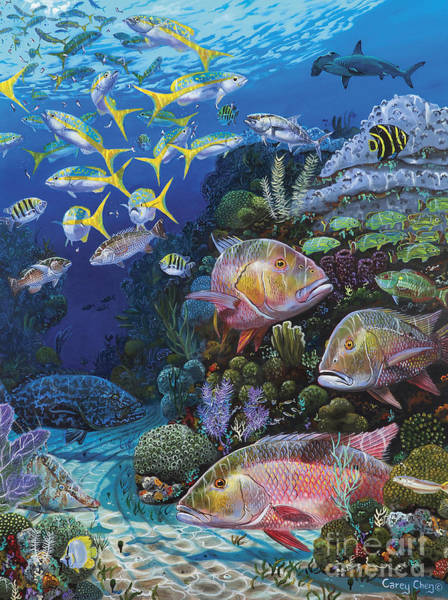 Bahamas Painting - Mutton Reef Re002 by Carey Chen