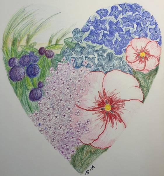 Beach Grass Drawing - Mv Heartgarden 2014 by Barbara Bellissimo