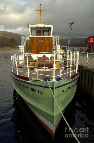 Pooley Bridge Wall Art - Photograph - M.v The Western Belle by Linsey Williams