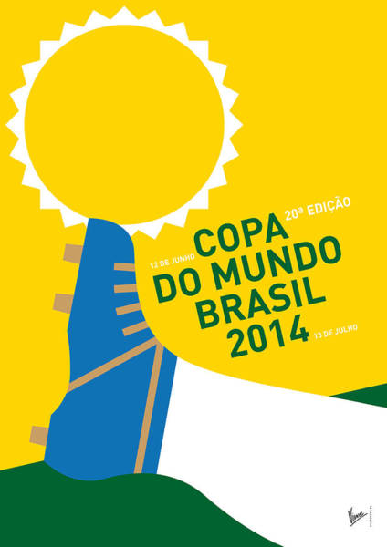 South America Digital Art - My 2014 World Cup Soccer Brazil - Rio Minimal Poster by Chungkong Art