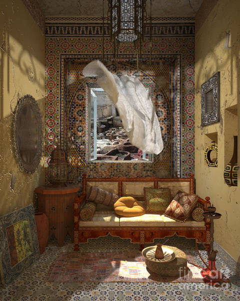 3d Painting - My Art In The Interior Decoration - Morocco - Elena Yakubovich by Elena Yakubovich