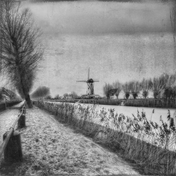 Mills Photograph - My Beloved Flat Country: Damme by Yvette Depaepe