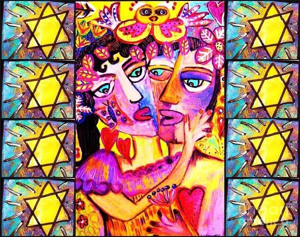 Painting - -my Beloved Bashert  by Sandra Silberzweig