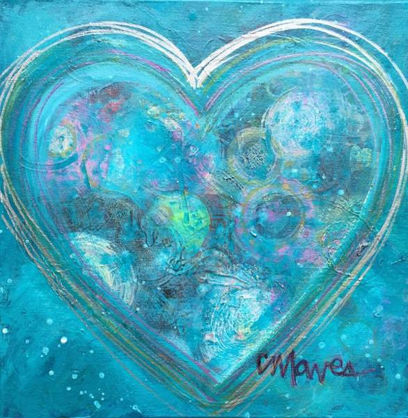 Painting - Live In Love My Blue Heart by Laurie Maves ART