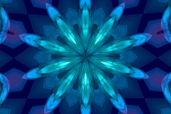 Digital Art - My Blue Heart by Peggy Collins
