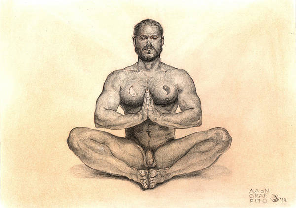 Meditation Drawing - My Body Is My Temple by Mon Graffito