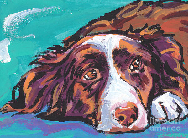Border Collie Painting - My Border by Lea S