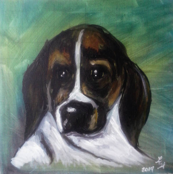 Painting - My Brother's Dog by Loretta Nash