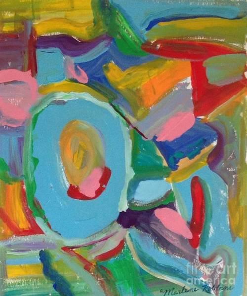 Painting - My  Colors Abstract by Marlene Robbins