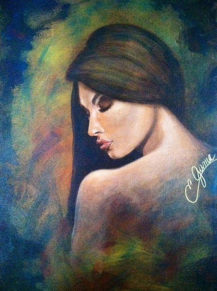 Wall Art - Painting - My Confession   by Estela Gama