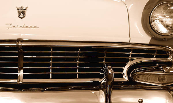 Photograph - My Dad's Car - Ford Fairlane by Steven Milner