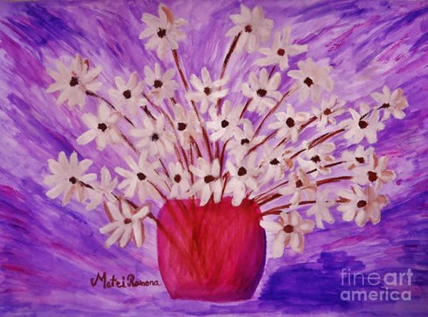 Wall Art - Painting - My Daisies by Ramona Matei