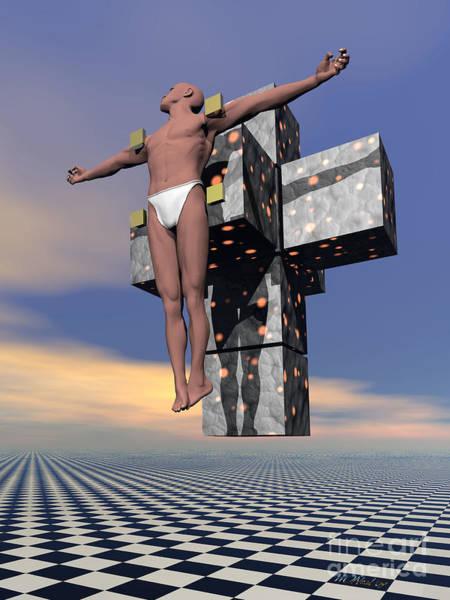 Digital Art - My Dali Crucifixion by Walter Neal