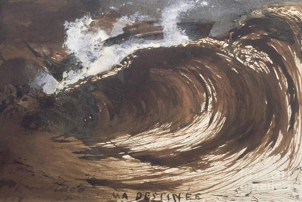 Tsunami Painting - My Destiny by Victor Hugo