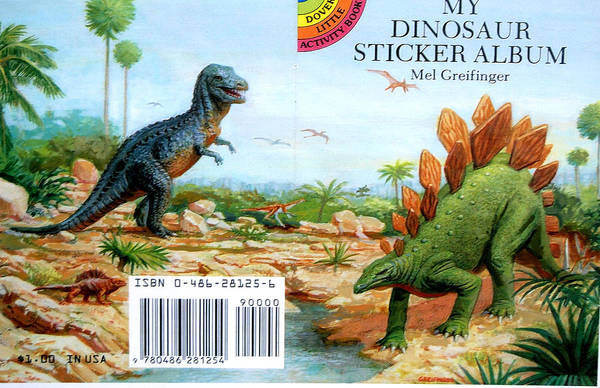 Painting - My Dinosaur Sticker  by Mel Greifinger