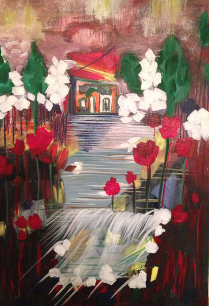 Painting - My Dream Home by Sima Amid Wewetzer
