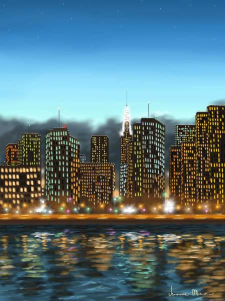 Manhattan Skyline Painting - My Dream by Veronica Minozzi