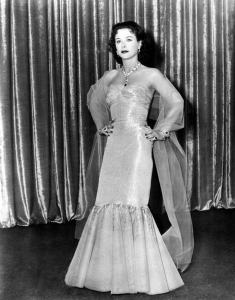 Wall Art - Photograph - My Favorite Spy, Hedy Lamarr, In A Gown by Everett
