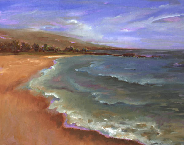 Wall Art - Painting - My Favorite Time Of Day At Mauna Kea by Lisa Bunge