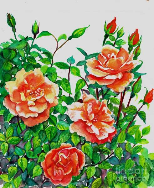 Painting - My Favourite Rose by Val Stokes