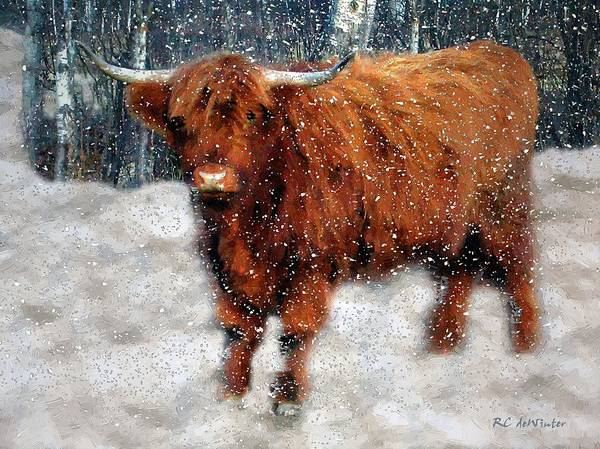 Painting - My Feets Are Cold by RC DeWinter