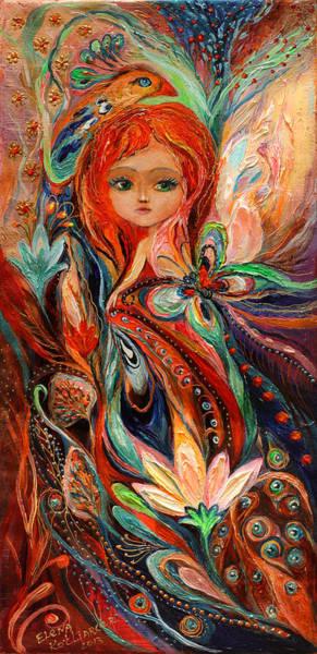 Wall Art - Painting - My Fiery Fairy Gwendolyn by Elena Kotliarker
