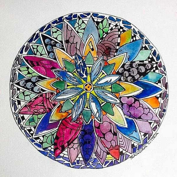 Pattern Painting - Spring Mandala by Sandra Lira
