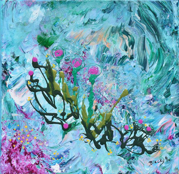 Wall Art - Painting - My Garden Is Blooming by Donna Blackhall