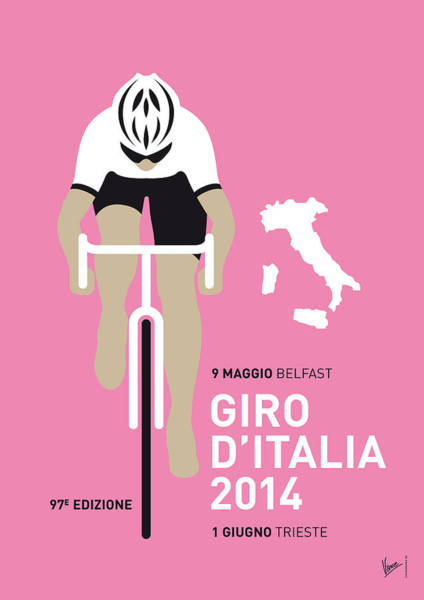 Bike Digital Art - My Giro D Italia Minimal Poster 2014 by Chungkong Art