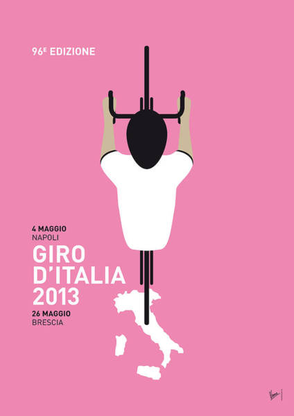Digital Art - My Giro D'italia Minimal Poster by Chungkong Art