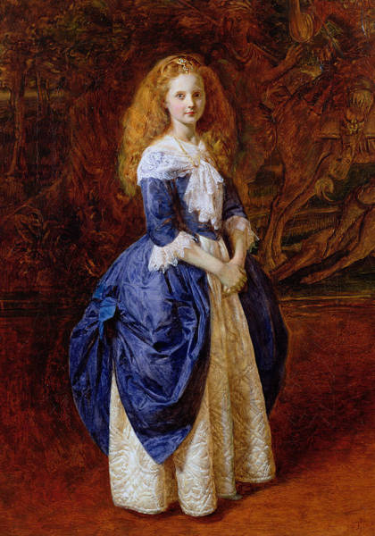 Redhead Photograph - My Great Grandmother, 1865 Oil On Canvas by James Archer