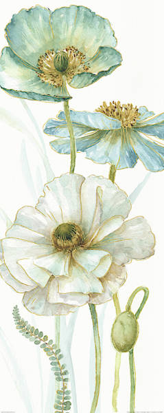 Wall Art - Painting - My Greenhouse Flowers Viii by Lisa Audit