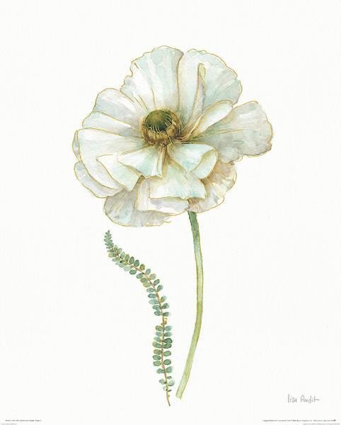 Metallic Painting - My Greenhouse Single Poppy II by Lisa Audit