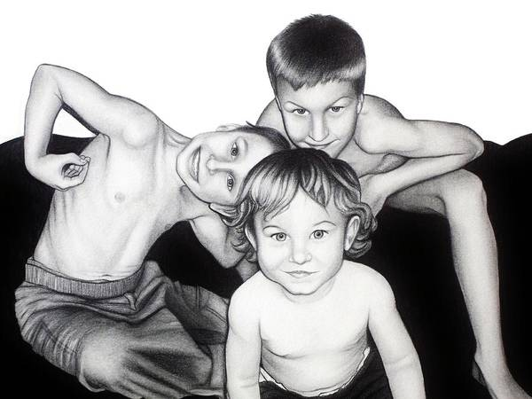 Drawing - My Guys In 2010 by Danielle R T Haney