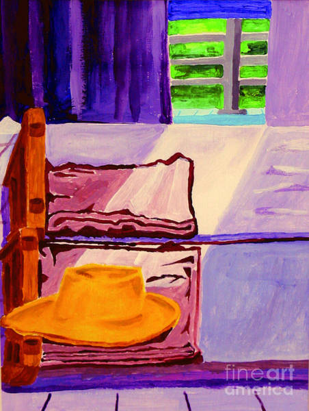 Painting - My Hat On A Bed by James Lavott