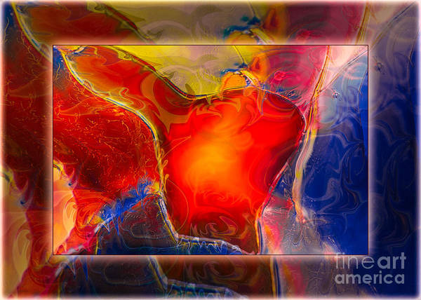 Painting - My Heart On My Sleeve An Abstract Painting by Omaste Witkowski