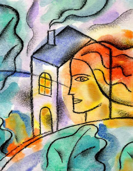 Wall Art - Painting - My House by Leon Zernitsky