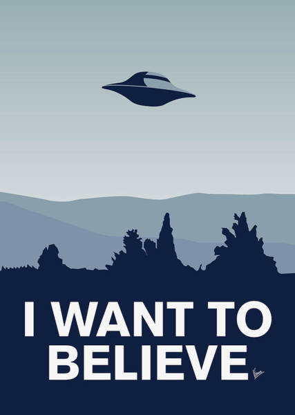 Digital Art - My I Want To Believe Minimal Poster-xfiles by Chungkong Art