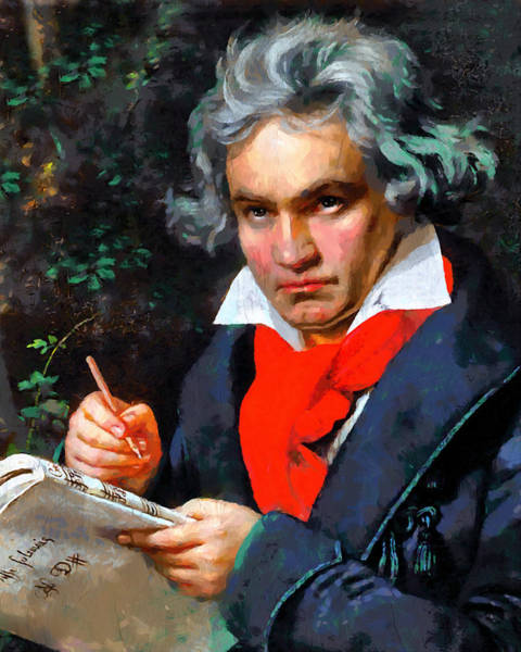 Painting - My Immortal Beloved - Beethoven by Isabella Howard