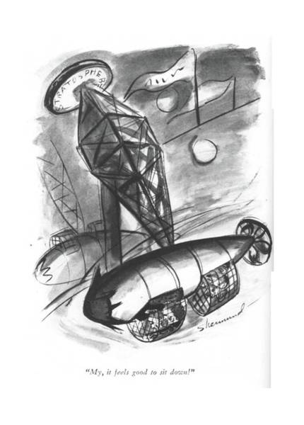 Roller Coasters Drawing - My, It Feels Good To Sit Down! by Barbara Shermund