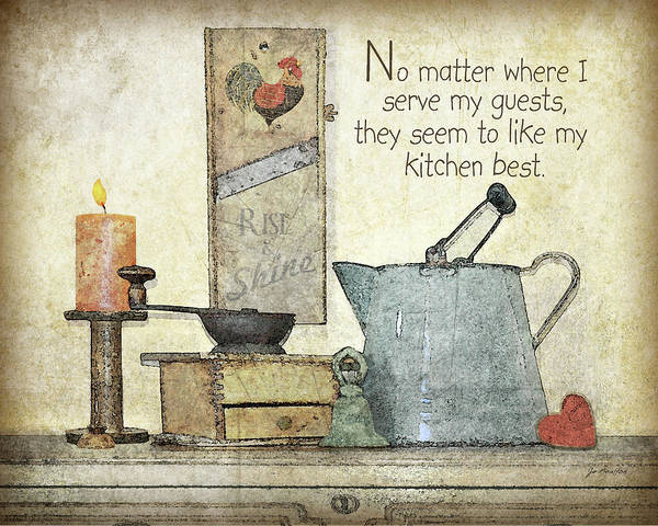 Family Farm Painting - My Kitchen by Jo Moulton