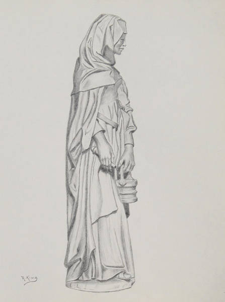 Wall Art - Drawing - My Lady by Roena King