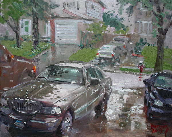 Wall Art - Painting - My Lincoln In The Rain by Ylli Haruni