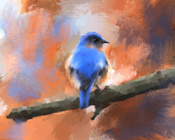 My Little Bluebird Art Print