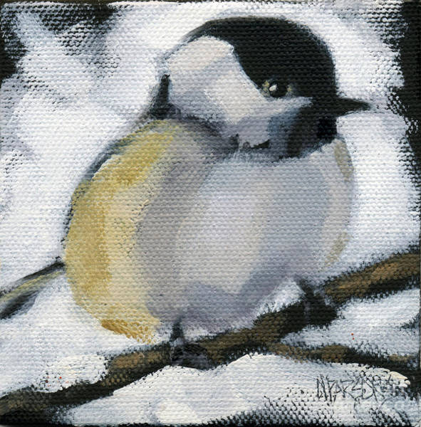 Painting - My Little Chickadee by Nancy  Parsons