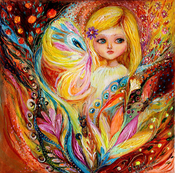 Wall Art - Painting - My Little Fairy Amber by Elena Kotliarker