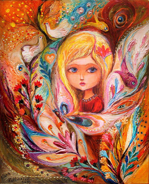 Wall Art - Painting - My Little Fairy Daphne by Elena Kotliarker