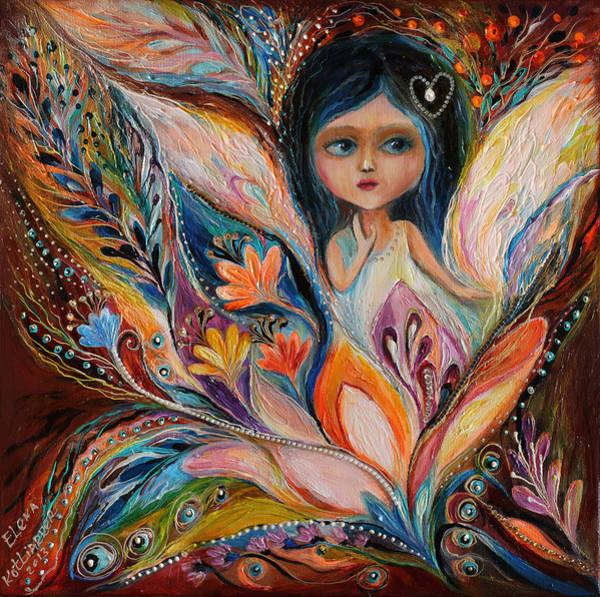 Wall Art - Painting - My Little Fairy Francine by Elena Kotliarker